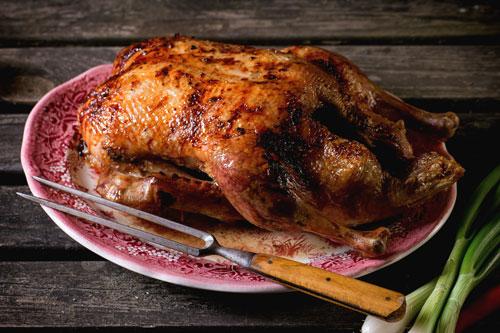Plum Wine & Curry Roasted Chicken