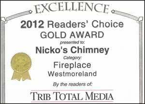 Nickos Chimney Company Readers Choice Award