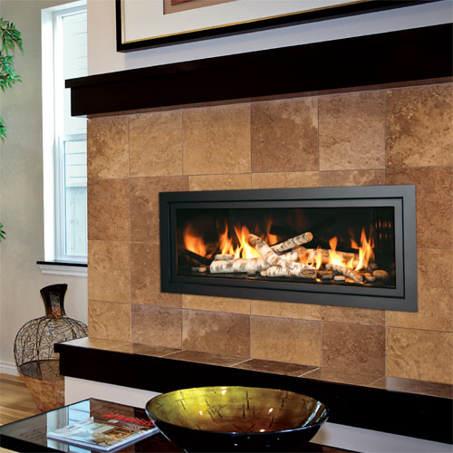majestic linear fireplace