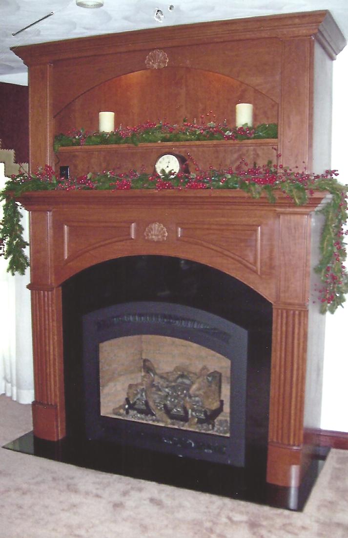 Custom fireplace mantle